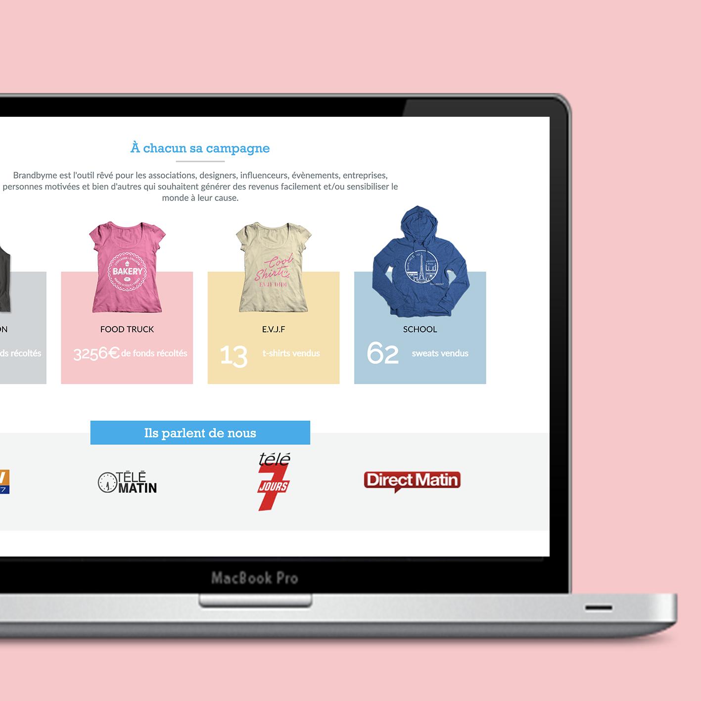 brandbyme creation sur mesure symfony react php likeweb agency paris studio design developpement