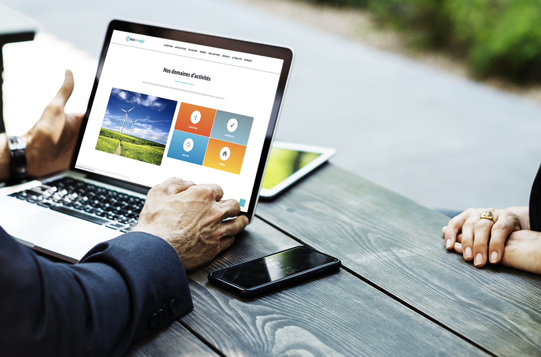 ecoenergie design application web wordpress conception agence digitale agence web communication développement