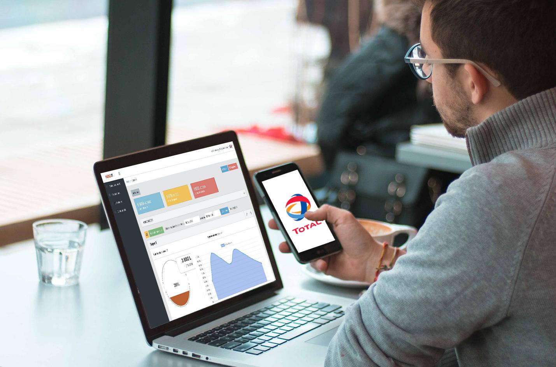 développement web ios création extranet likeweb agency studio design intégration sur mesure stock total essence