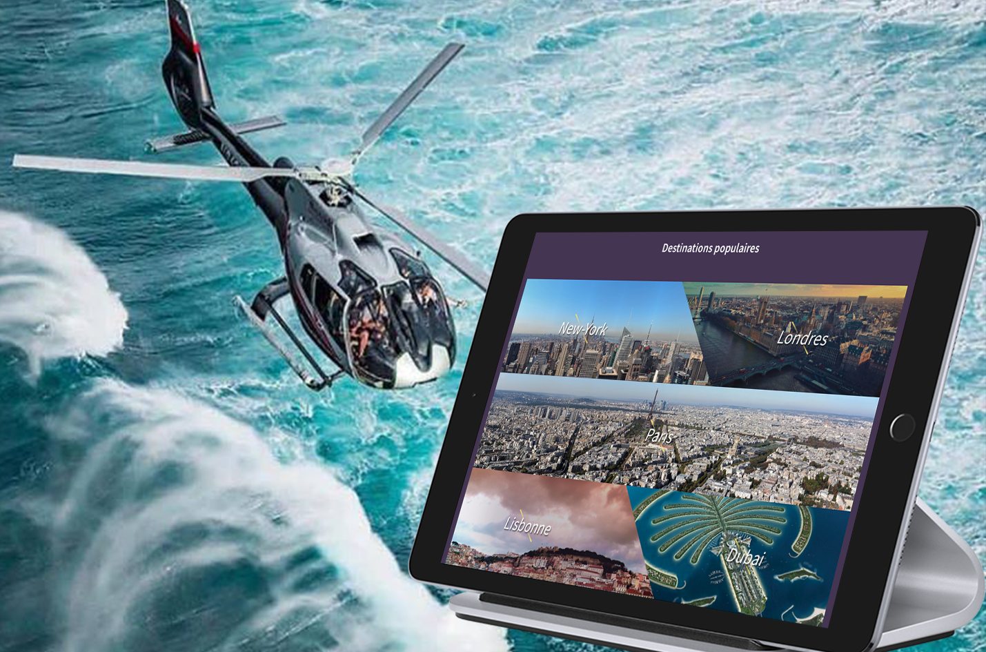 marketplace helicoptere helipass likeweb agency marketing design social médias agence digitale
