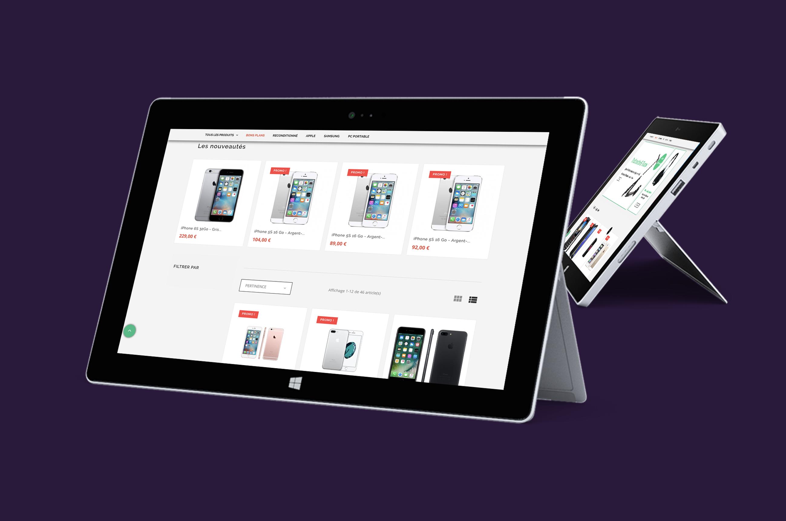 Création de site responsive e-commerce prestashop likeweb agency paris agence design studio centrale du tek vente en ligne