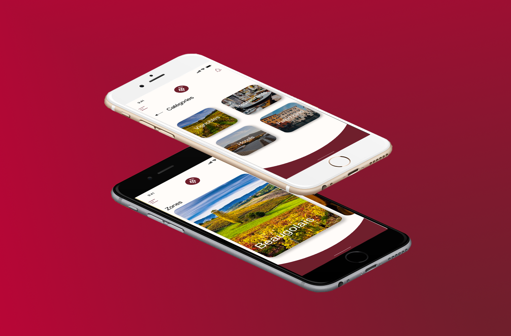 design branding création interface ux/ui design likeweb agency routedesvins application mobile ios android java swift reactnative