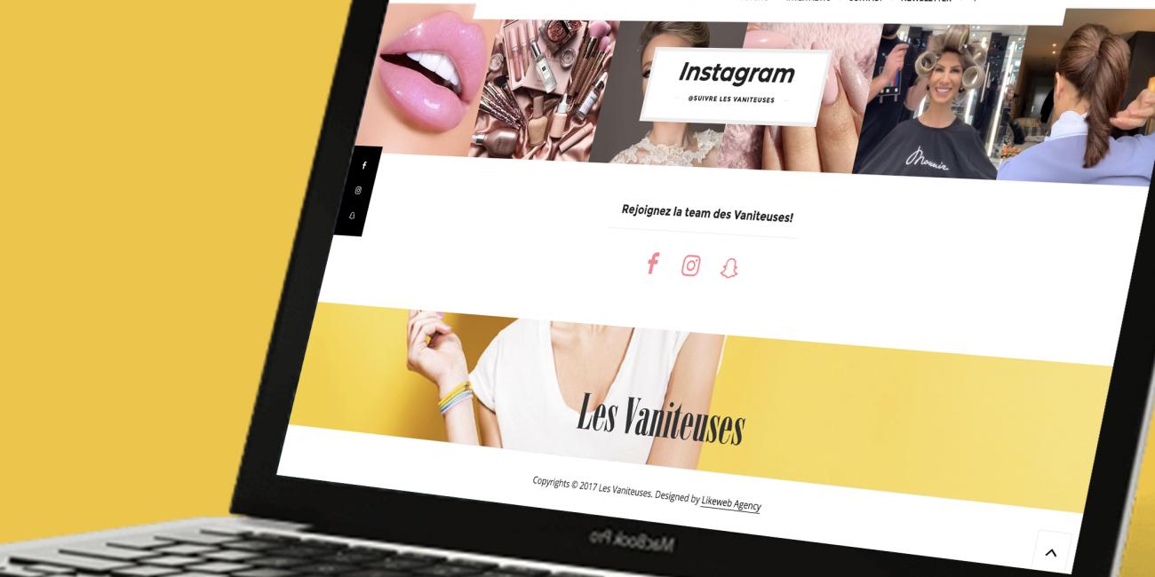 les vaniteuses blog beauté développement wordpress agence likeweb paris studio intégration