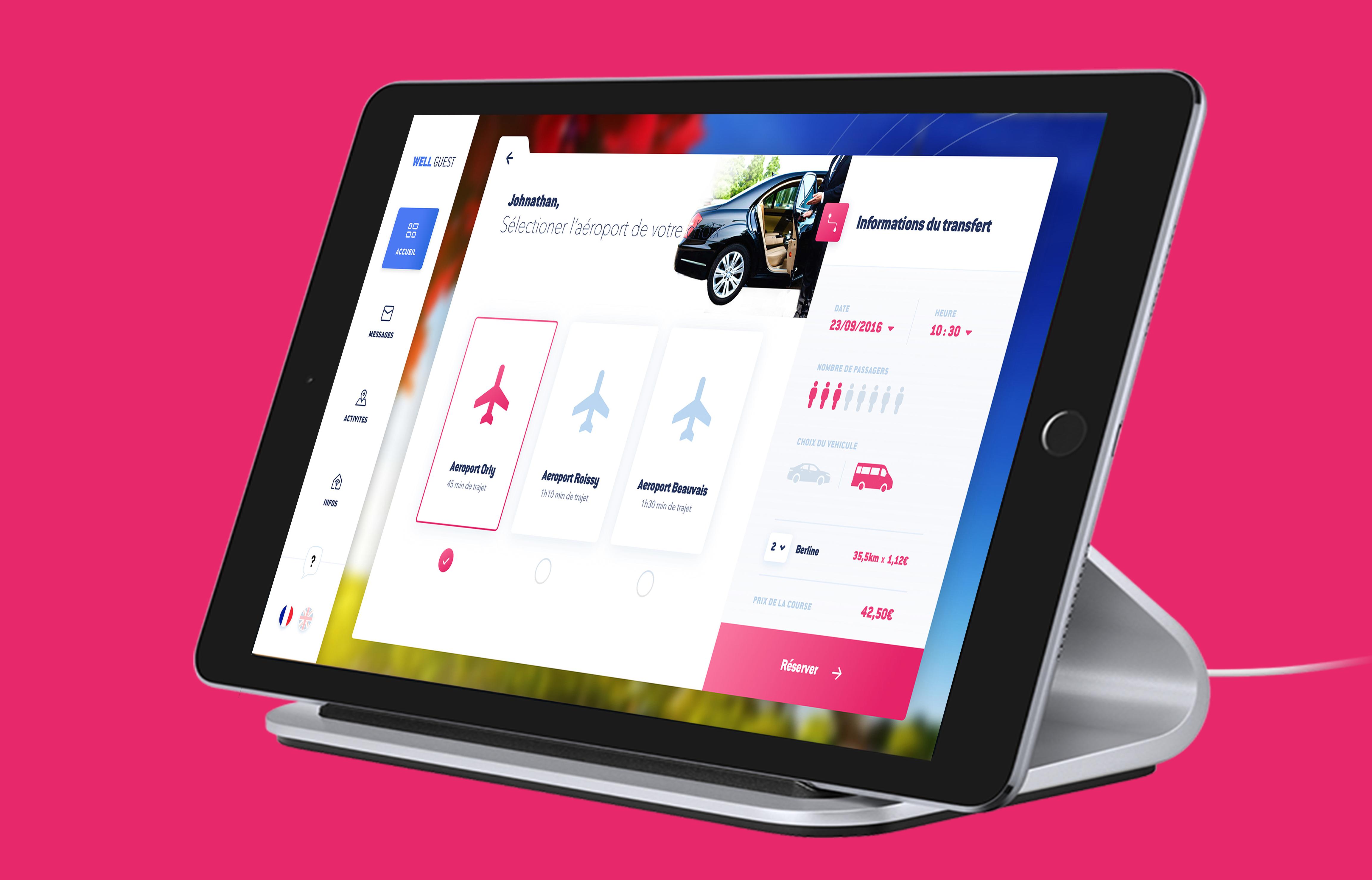 well guest paris likeweb agence développement ios tablette intégration swift création conciergerie