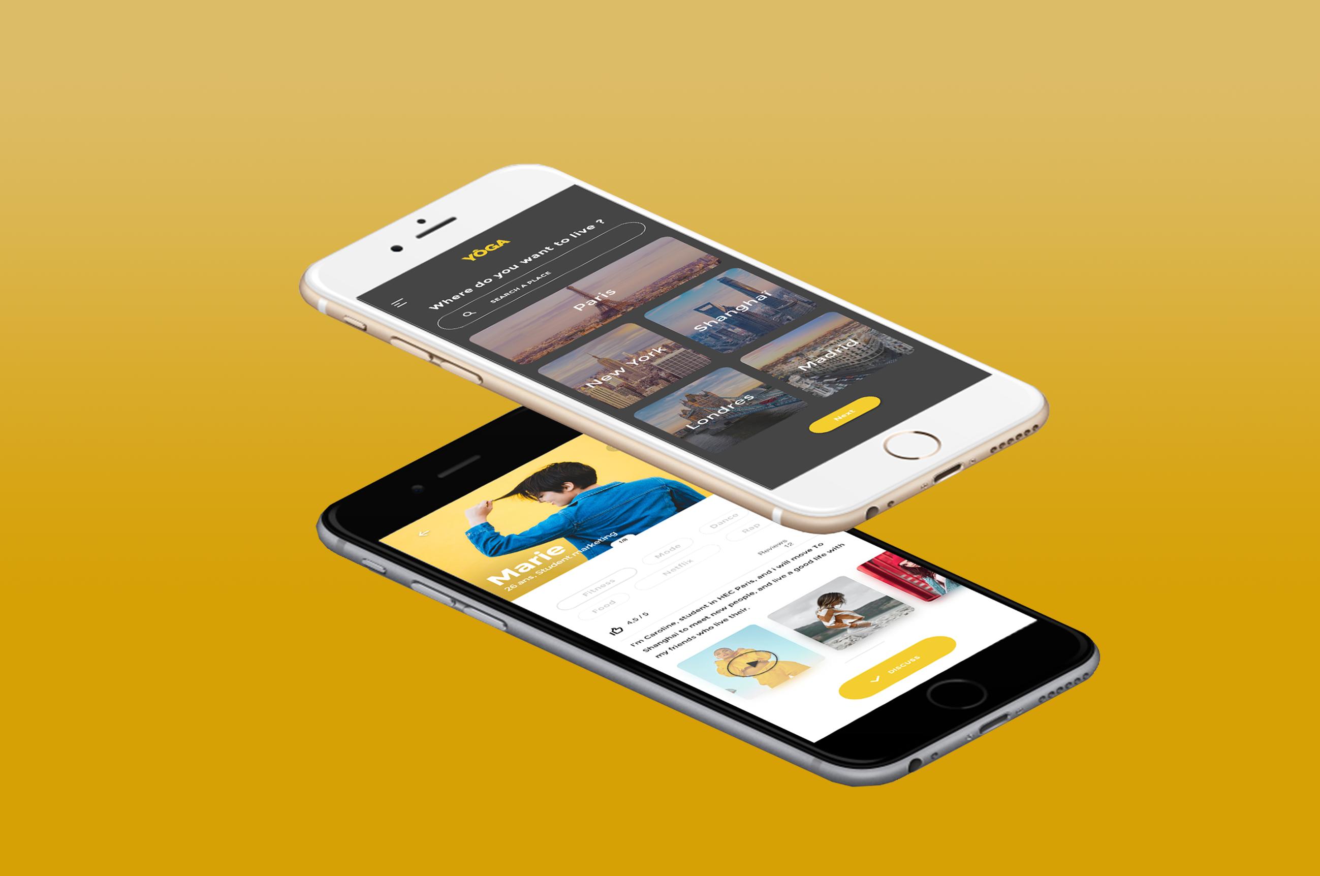 likeweb agency yoga paris shangai chinois marché ux/ui design développement création intégration ios android java swift