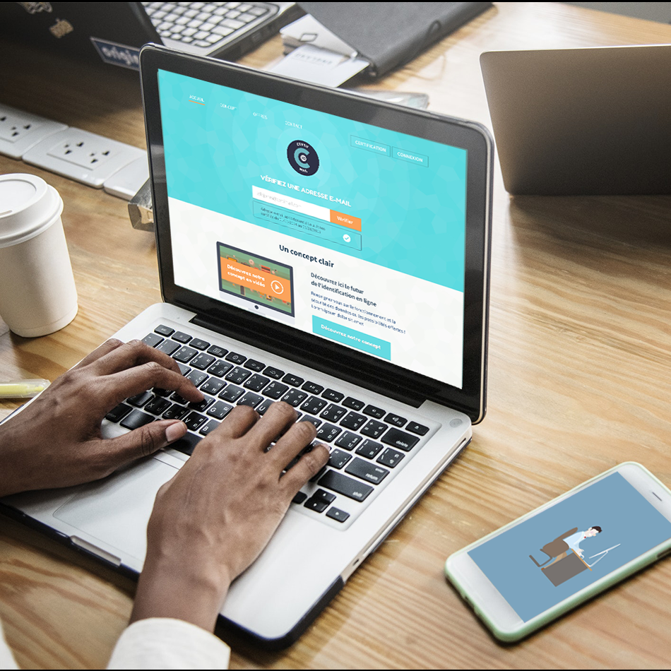 identimail design conception application agence digitale likeweb création de contenu vidéo