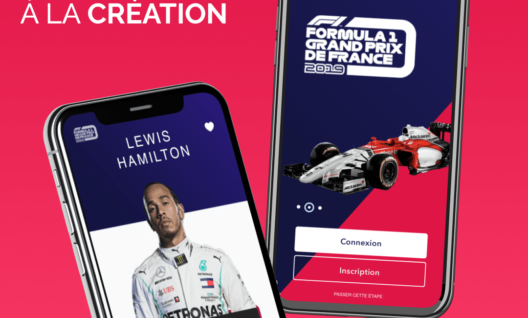 Formula 1 - UX UI application mobile
