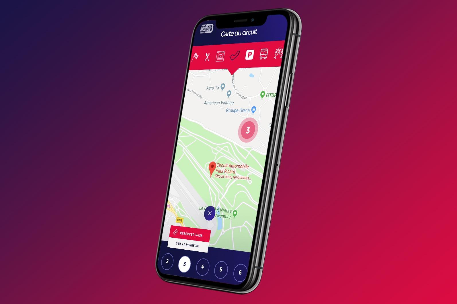 Formule 1 Likeweb agence création application mobile événementiel