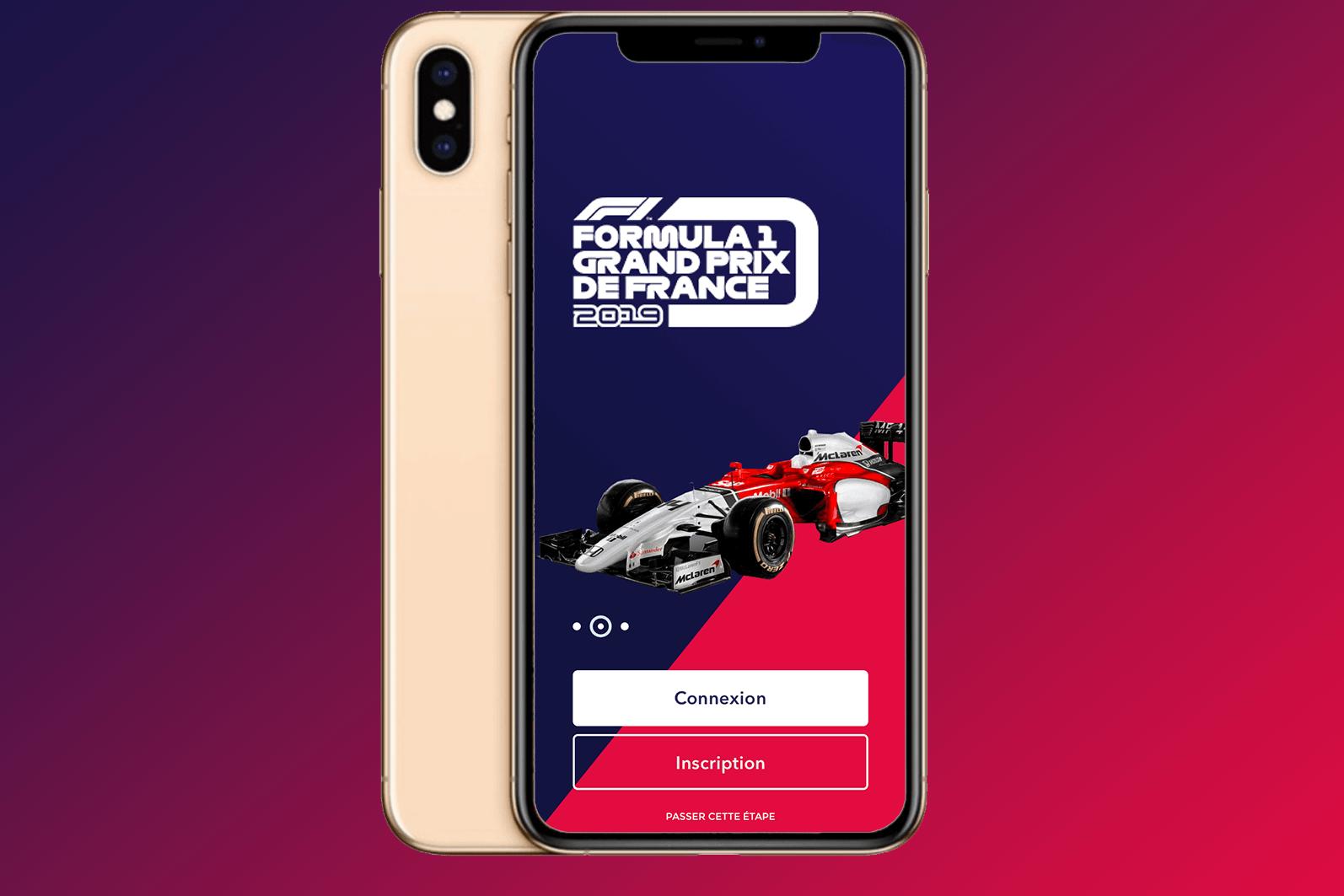 Likeweb studio mobile Formule 1 design mobile ergonomie