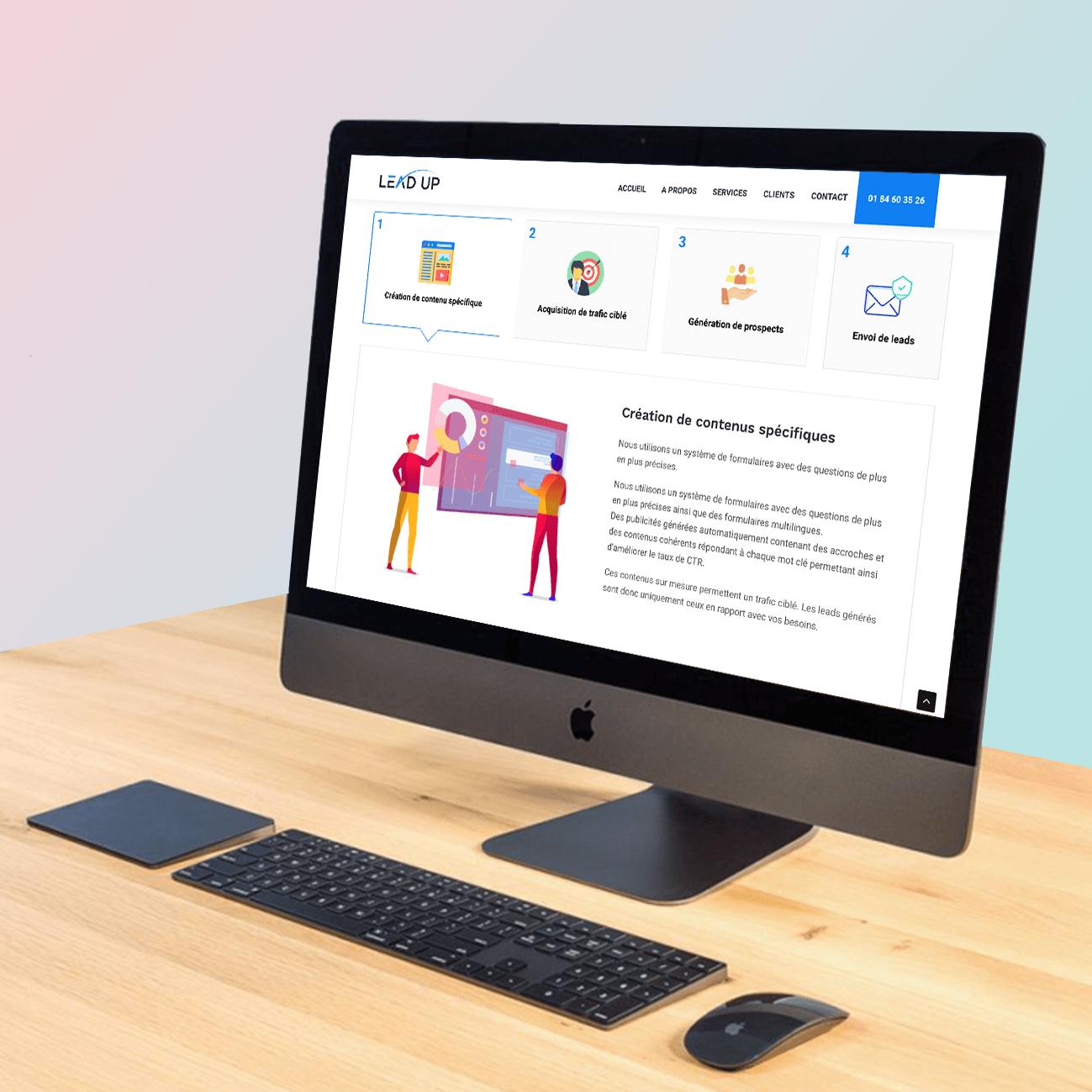 Agence web Likeweb communication ergonomie site web lead up webdesign